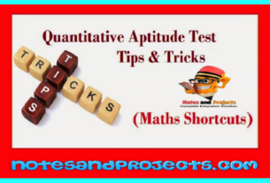 Tricks To Solve Quantitative Aptitude (Numerical Ability) Problems Quickly In English & Hindi