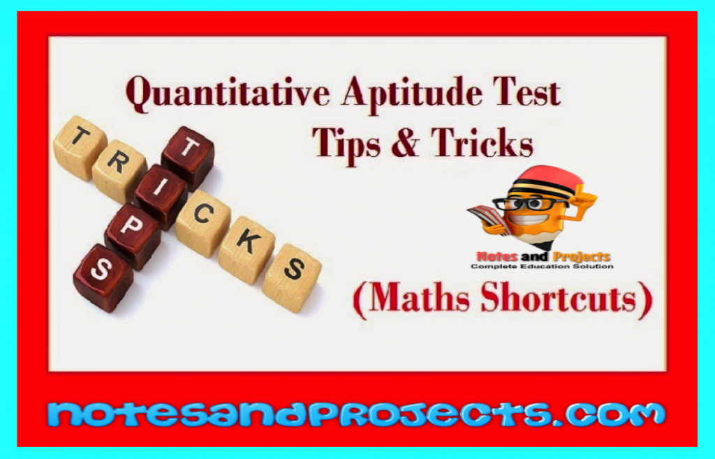 tricks to solve maths problem | Notes and Projects