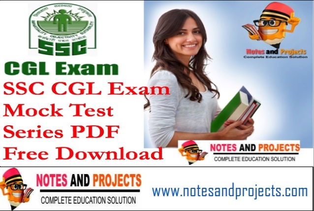 SSC CGL Mock Test Papers With Answers PDF In Hindi Free Download