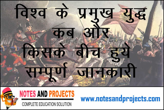 Famous Wars Of The World In Hindi (vishya ke pramukh yudh)Famous Wars Of The World In Hindi (vishwa ke pramukh yudh)
