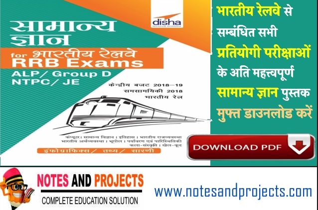 Indian Railway General Knowledge PDF In Hindi