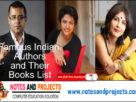 Famous Indian Authors and Their Books List PDF