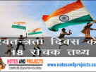 18 Interesting facts of Independence Day of India