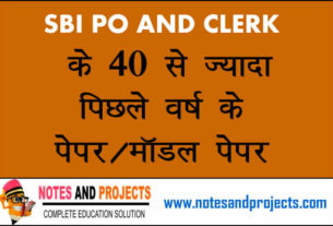 Bank CLERK and PO Exam Papers With Solution PDF