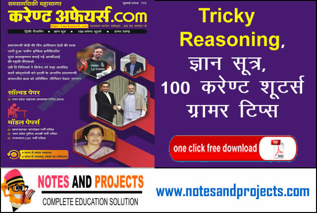 Current Affairs In Hindi PDF