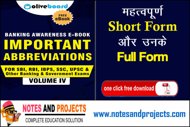 Important Abbreviations For General Knowledge PDF