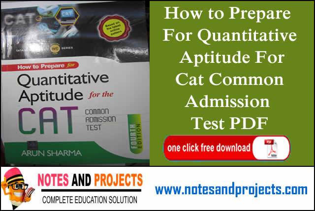 How to Prepare For Quantitative Aptitude For Cat Common Admission Test PDF